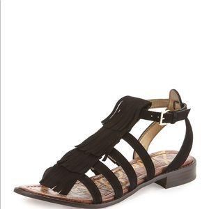 NWT Sam Edelman Estelle Fringe Sandals in Black